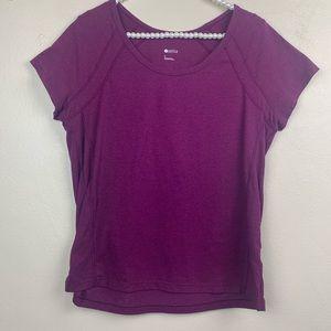 Zella Purple Active Top Short Sleeve Large